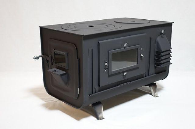 新保製作所 角型3面窓付薪ストーブ【FIRESIDE 】