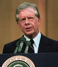 1978 - President Jimmy Carter cancels production of the neutron bomb .