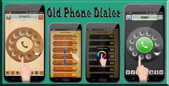 Old Phone Dialer  with Admob and StartApp . Are you sick of your boring stock dialer keypad? Well, this is the app that gives you an old rotary dialer but with latest graphics. If takes too long to dial a phone number rotating the disc just switch to the quick mode. Rotate the dialer to dial the number or use stylish keypad for speed