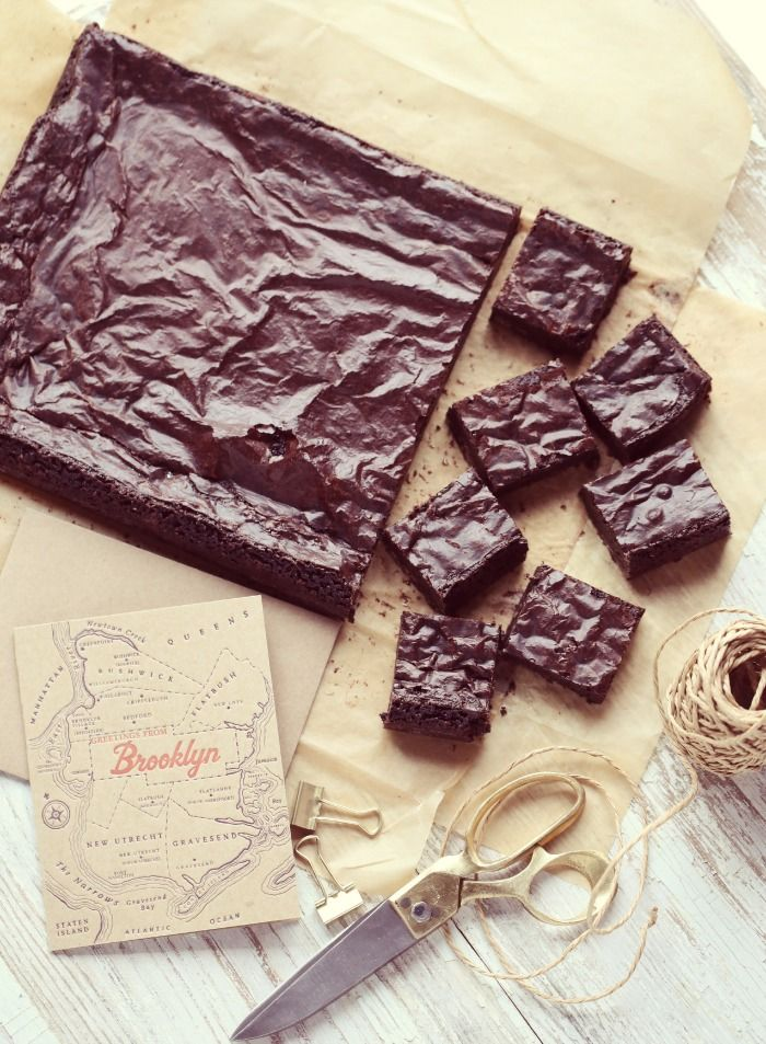 Passion 4 baking » Gluten free fudge brownies, with love from Brooklyn