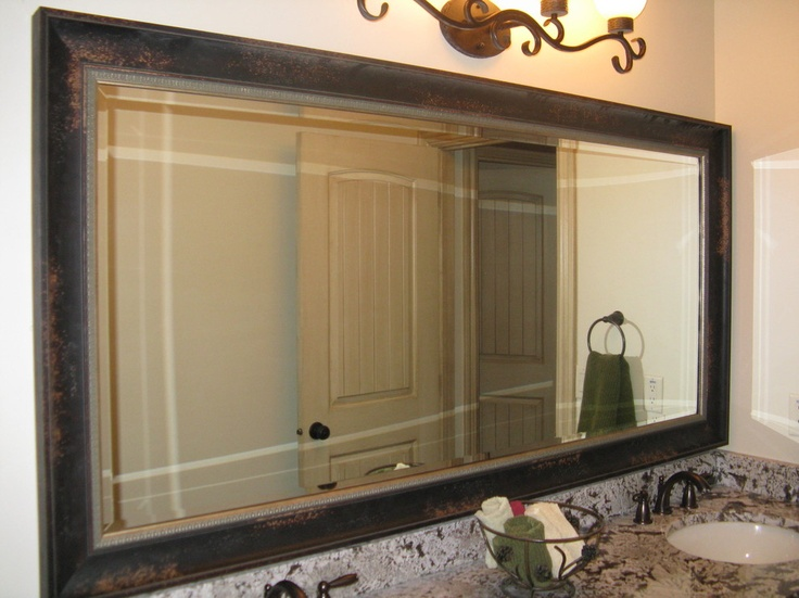 Mirror frame kit reflected design frames for existing mirrors bathroom mirrors pinterest for Pinterest framed bathroom mirrors
