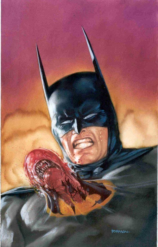 batman vs alien by - photo #20