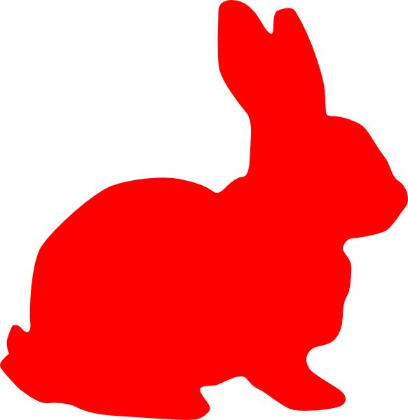 red rabbit | Red Rabbit Silouette clip art - vector clip art online, royalty free ...