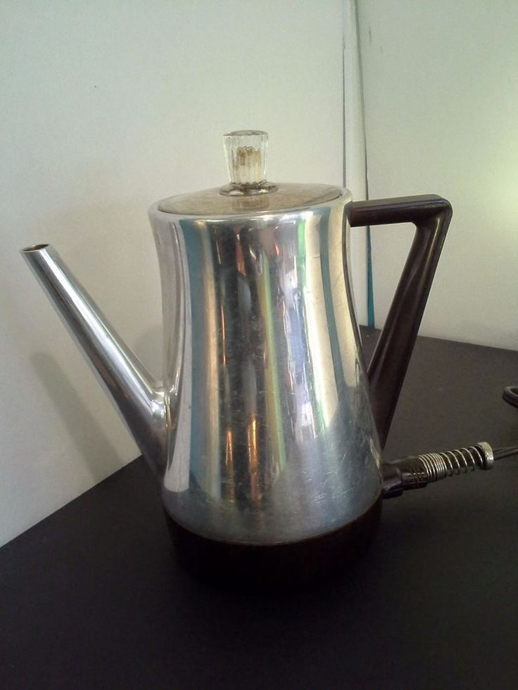 West Bend Coffee Maker Percolator : Vintage West Bend 3245E Electric 2 to 5 cup Percolator Coffee Pot with GE Cord Collectibles ...