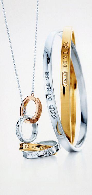 Tiffany & Co.   Item   Return to Tiffany? mini double heart tag pendant in silver with enamel finish. #jewellery Tiffany #Tiffany