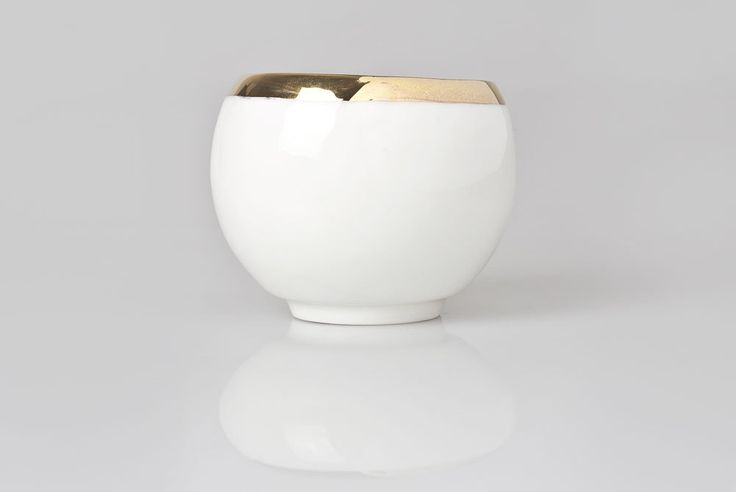 White Handmade Cup, Small Coffee Cup Decorated with Gold, Porcelain Cup by KinaCeramics on Etsy https://www.etsy.com/listing/190089699/white-handmade-cup-small-coffee-cup