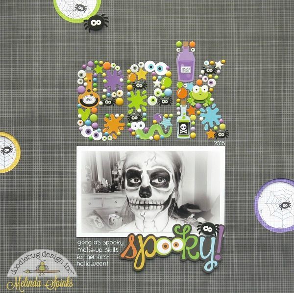Doodlebug Design Inc Blog: Boos & Brews Collection: Spooky Layout by Melinda
