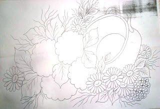 Pintura em tecido ,Pintura em tela, Riscos e desenhos para pintar e artesanatos: RISCOS FLORES