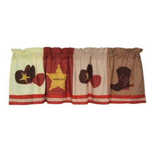 Cowboy Valance Country Western Window Sheriff Baby Boys Nursery By Pem America #PemAmerica
