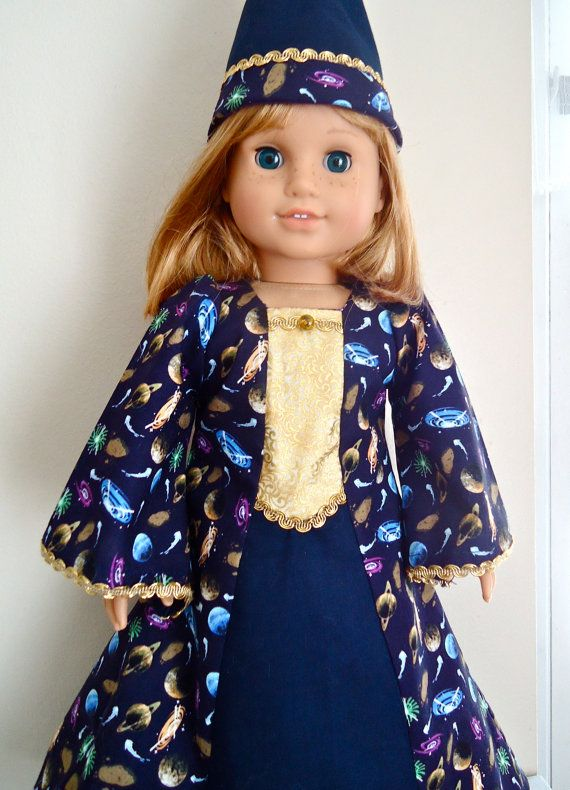 Space Wizard Costume: 2-piece wizard costume for all American Girl Dolls from BackInTimeCreations  Etsy