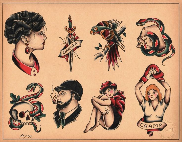 20 Pin Up Old School American Traditional Tattoos Flash Ideas And