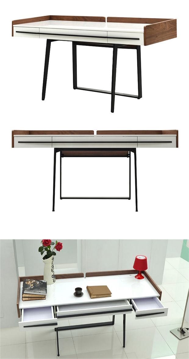 The office of the future will be decked out with cutting-edge décor as regular fare. In the meantime, lead by example with this Aston Office Desk, a fabulously contemporary piece with a few traditional...  Find the Aston Office Desk, as seen in the Fresh Industrial Style Collection at http://dotandbo.com/collections/fresh-industrial-style?utm_source=pinterest&utm_medium=organic&db_sku=117128