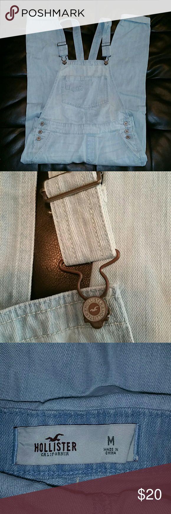 Hollister Overalls Brand new, never worn, light wash skinny overalls. Hollister Jeans Overalls