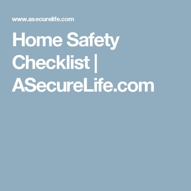 Home Safety Checklist | ASecureLife.com