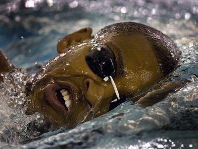 Cullen Jones, US Olympian, Swimming Photo Credit Chris Keane for The Wall Street Journal