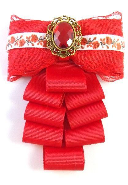 Брошь-галстук Брошь-галстук Роза-вышиванка - Интернет-магазин ручных изделий.