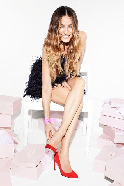 See Sarah Jessica Parker's debut shoe collection in full for the first time, I so love this woman , her style, her shoes, she is just a very classy lady!