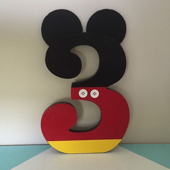 Custom Decorated Wooden Number  Letter  by NiftyNancyDesigns