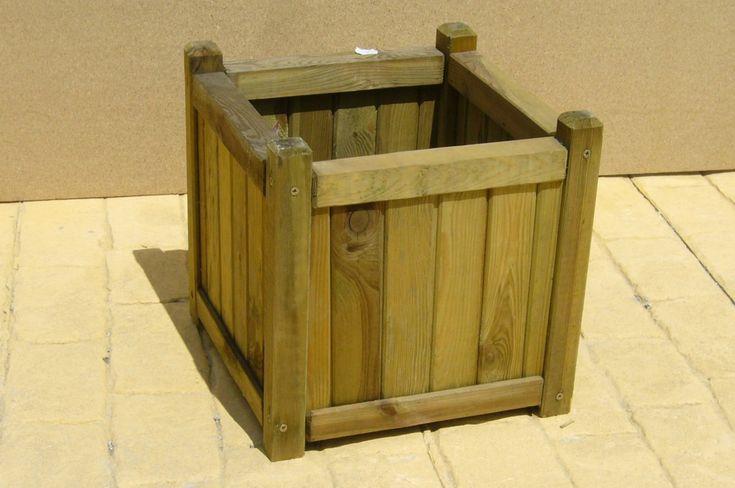 Maceta de madera jardin pinterest - Maceta de madera ...