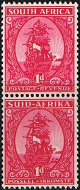 South Africa 1943 Redrawn Coil Stamp SG 106 Fine Mint Pair SG 106 Scott 99 Other South African Stamps HERE