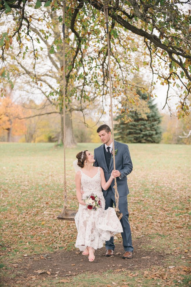 Bride and groom on swing | Amanda Adams Photography | see more at http://fabyoubliss.com