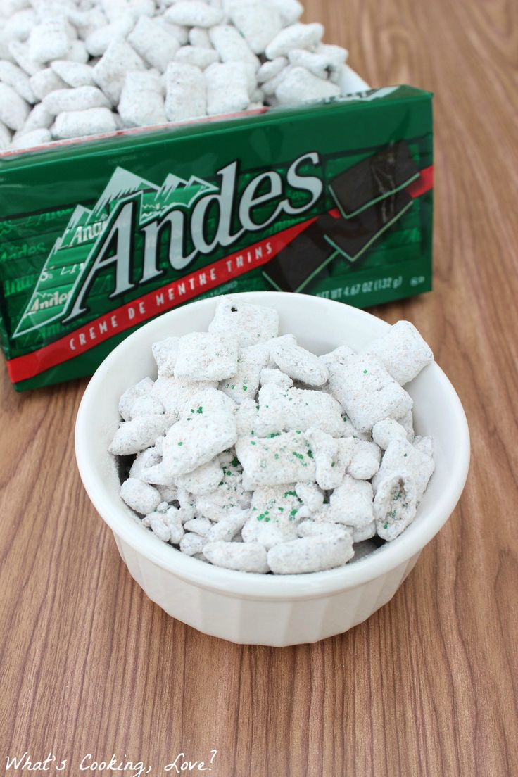 Andes Muddy Buddies are a mint chocolate snack that is easy to make and tastes delicious.