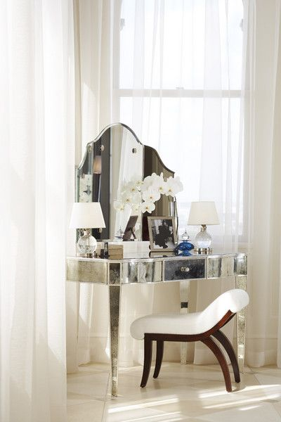 25+ best ideas about Mirrored vanity table on Pinterest Mirrored