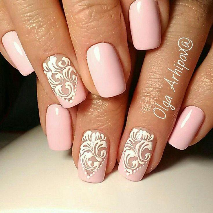 Best 25+ Pink wedding nails ideas on Pinterest   Simple ...