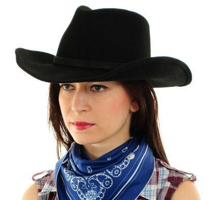 Stetson Bangs - černý plstěný klobouk westernového typu