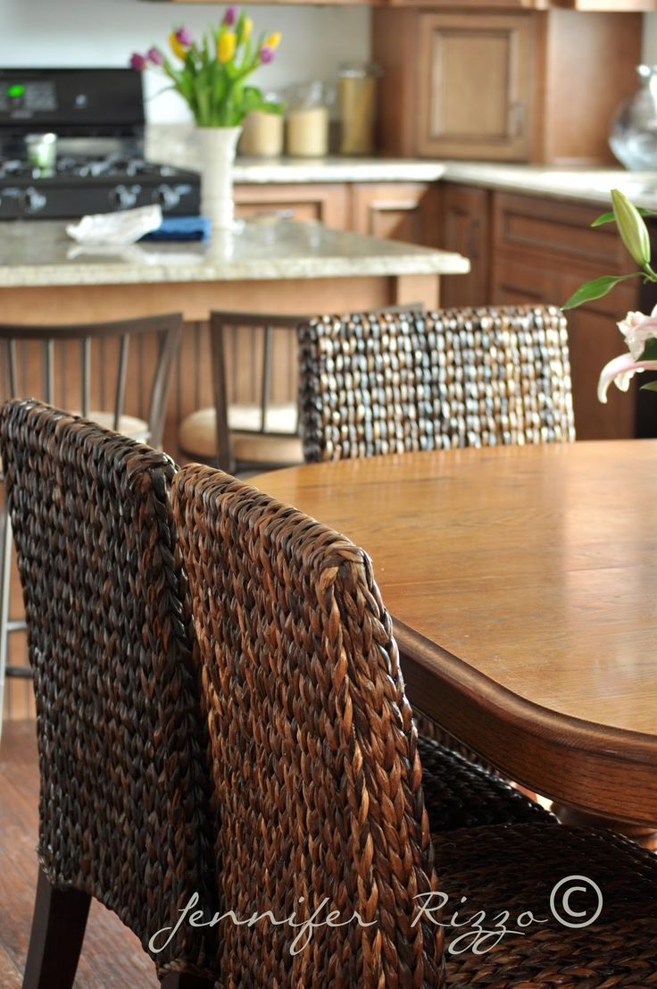 We Feature Photos And The Story Behind A Kitchen Renovation Featuring  Pottery Barnu0027s Seagrass Dining Chairs.