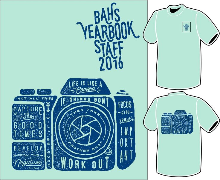 Broken Arrow High Schools yearbook staff had these shirts made for the 15-16 school year. Printed on Comfort Colors