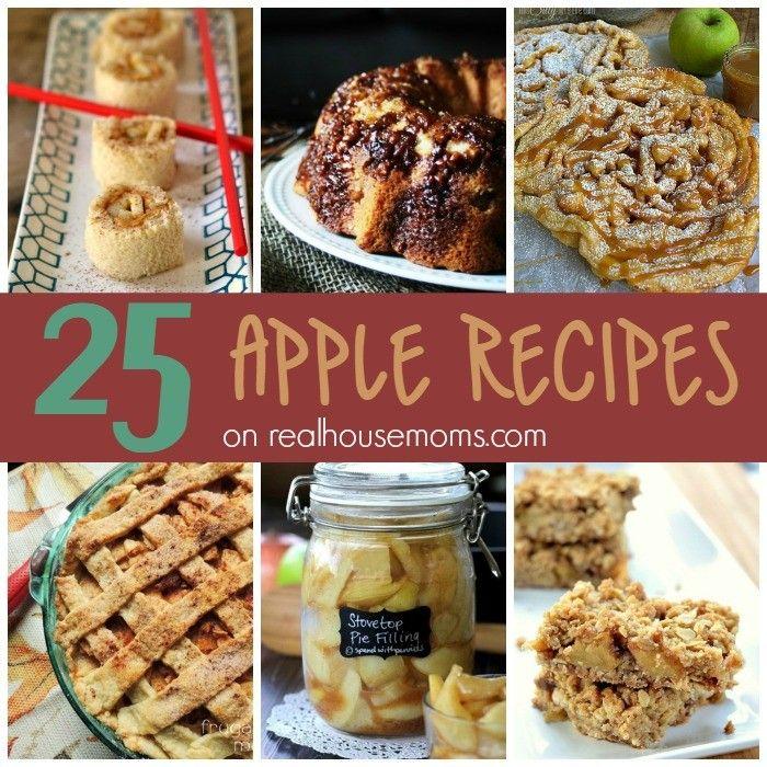25 Apple Recipes via @RealHousemoms