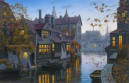 """Autumn Evening in Brugge"" by Eugene Lushpin"