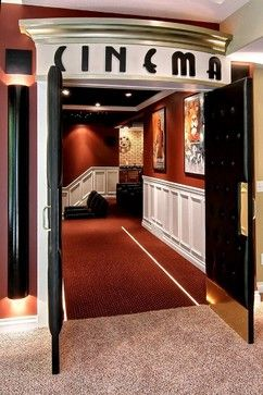 "I love the idea of headers over the doors ... especially rooms like ""library"" or ""cinema"""