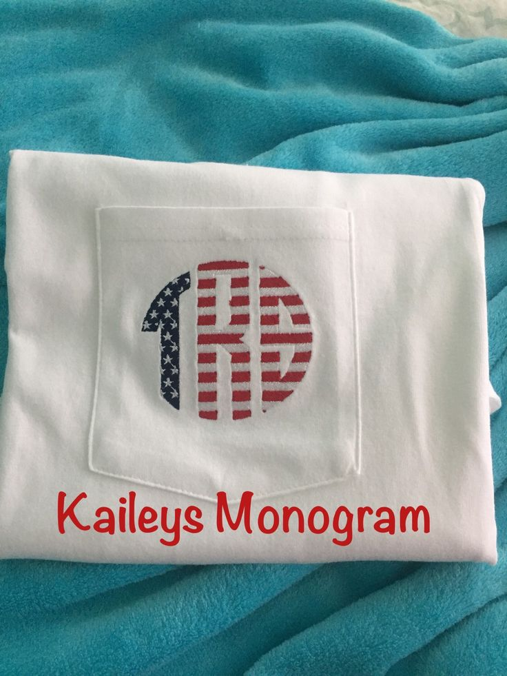 A personal favorite from my Etsy shop https://www.etsy.com/listing/255539742/monogram-short-sleeve-pocket-tee-with
