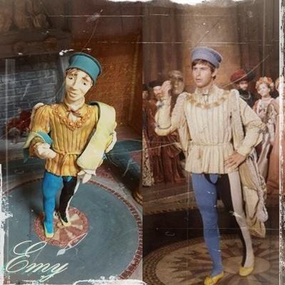 Romeo and Juliet movie fondant figure - cake by EmyCakeDesign