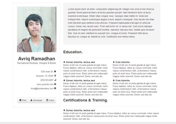 Collection Of HTML Resume Templates That Make It Easy To Put Your   Eit On  Resume  Eit On Resume