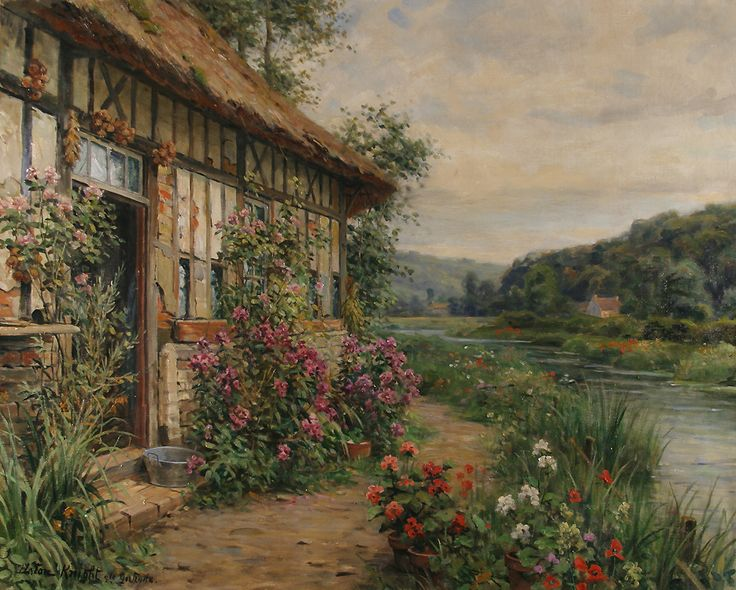 Louis Aston Knight  (1873 - 1948)  Summer Blossoms, St. Gertrude