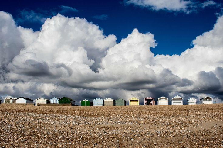 #beach huts #britain #coastal #england #shoreham by sea #sky #south coast #uk