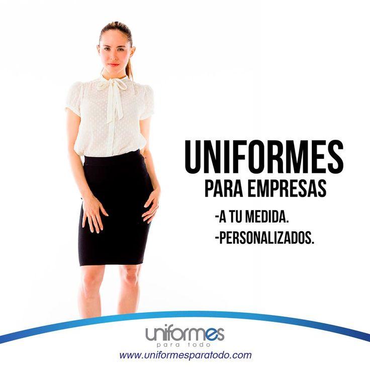 Dale a tu empresa un uniforme que refleje profesionalismo y elegancia. ¡Contáctanos! #Empresa #Compañia #Personal #Uniforme #Profesional   www.uniformesparatodo.com