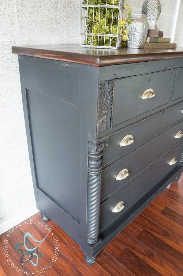 Amy Howard Paint-Carved Empire Dresser-Rustic Glam-One Step Paint