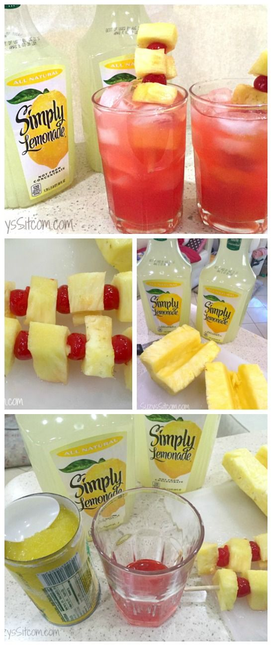 Easy to make Icy Pineapple Cherry Lemonade for your next get together! #AlwaysDelicious #ad