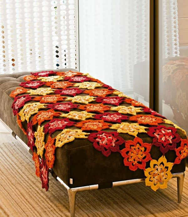 Manta de Sofá Floral - Linha Camila