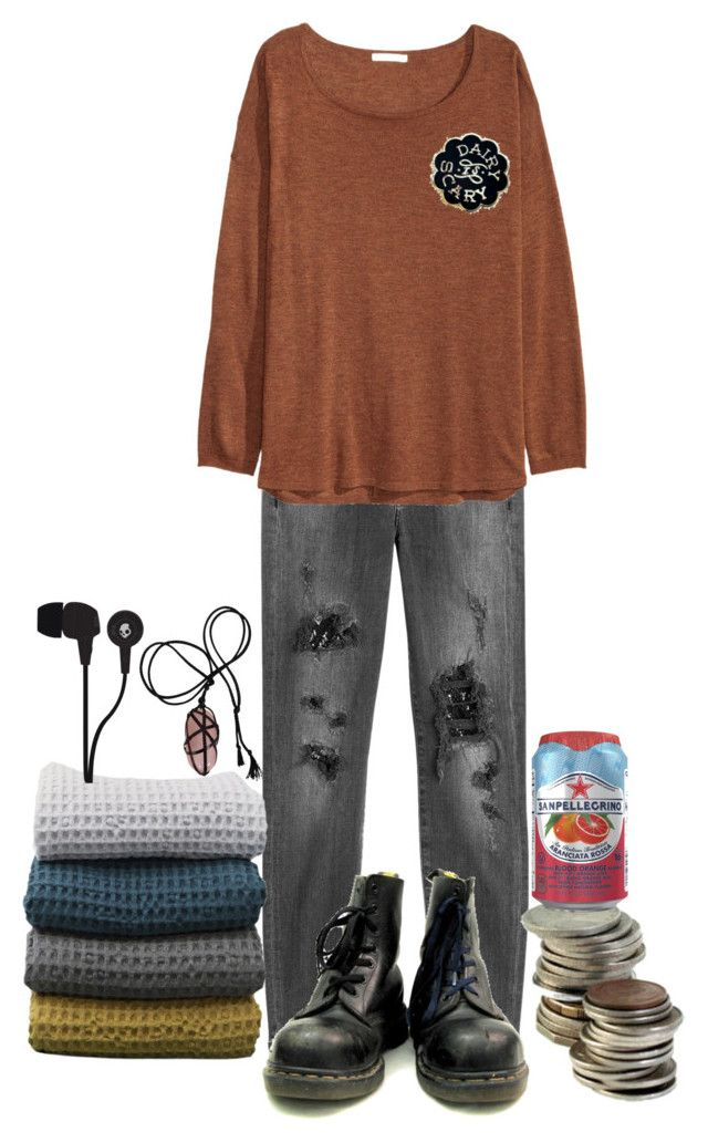 """""""comfy fall sweater"""" by teething ❤ liked on Polyvore featuring 7 For All Mankind, ferm LIVING, H&M and Skullcandy"""