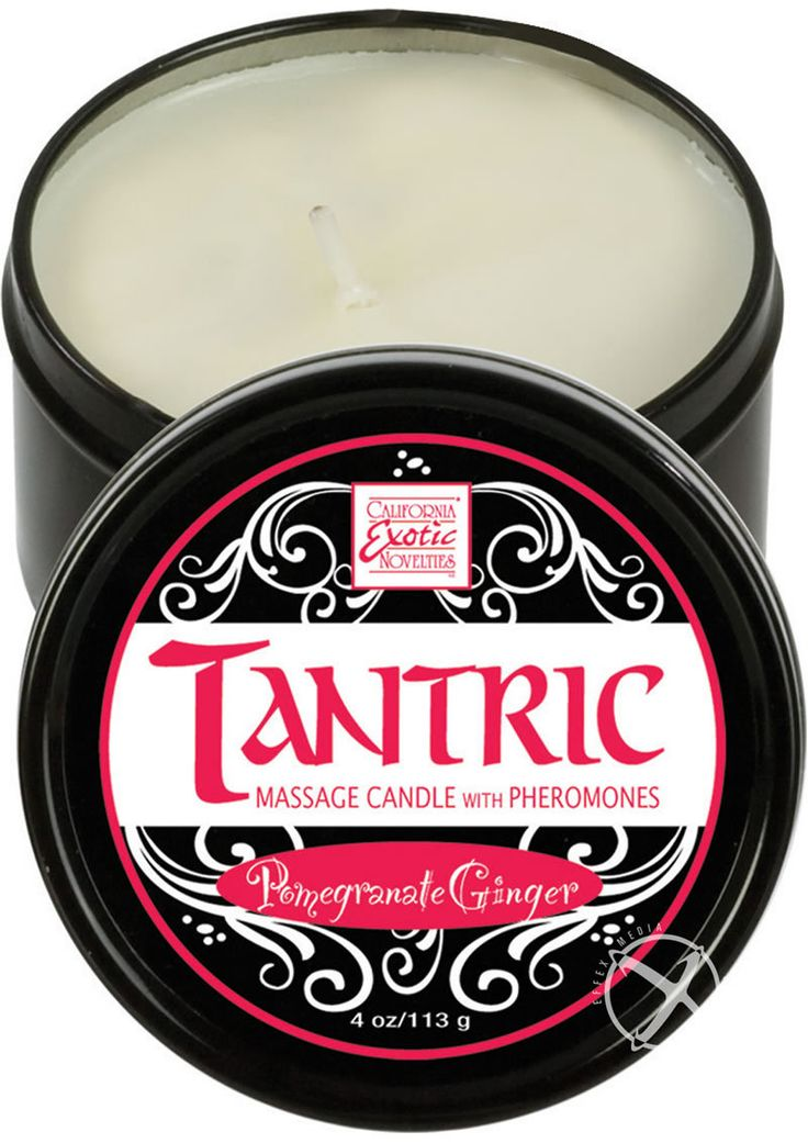 Buy Tantric Massage Candle With Pheromones White Pomegranate Ginger online cheap. SALE! $10.99