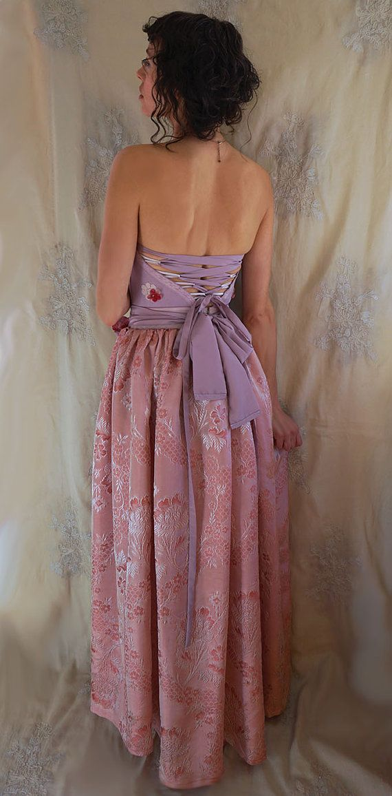 Plumeria Gown... wedding formal prom whimsical by jadadreaming