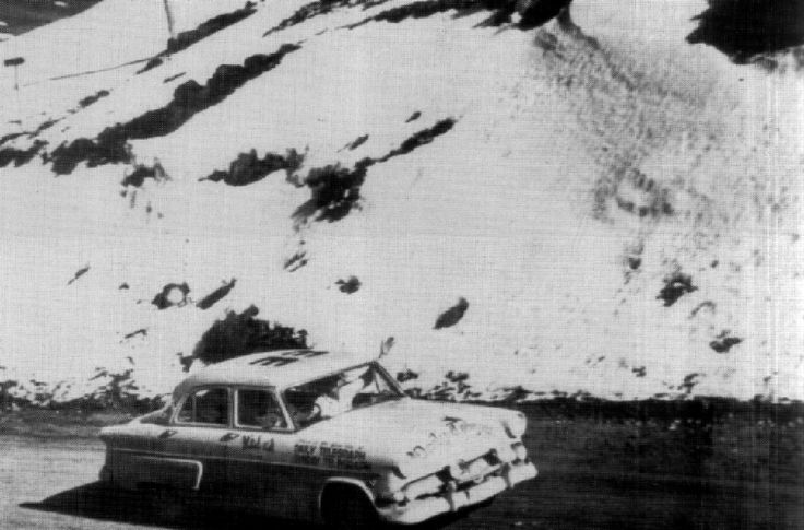 1954 RedEx Trial: Daily Telegraph Motoring Editor Tom Farrell takes his Ford Customline through the Snowy Mountains on the way to finishing equal 7th