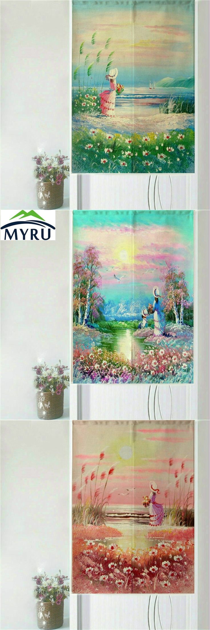 MYRU Western Oil Painting Catcher In The Rye Series Door Curtain  Partition Type Household Geomantic Curtain 85x150cm