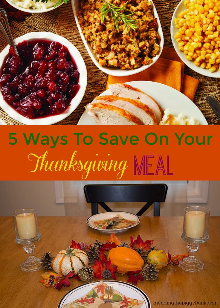 5 Ways to Save On Your Thanksgiving Meal -- Thanksgiving is easily one of the biggest meals you'll make in the course of the year, and it can easily spiral out of control and be the single most expensive one you'll make too. There are easy ways that you can prepare for Turkey Day and save on the big meal.