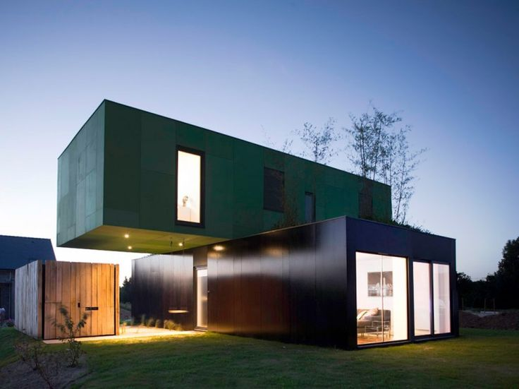 Eco Friendly Crossbox House By CG Architectes. Shipping Container  HousesShipping Container Home DesignsShipping ... Part 68